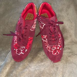 Tory Burch Kyoto Pink Floral Sneakers